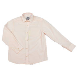 Рубашка детская для мальчика цвет пудра BoGi