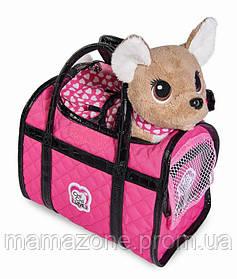 Собачка Chi Chi Love Розовая мечта Чихуахуа в светящемся платье и сумочкой Simba 5893123