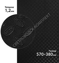 Резина подмёточная FAVOR, р. 570*380*1.2мм, цв. чёрный black