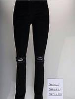 Черные рваные джинсы Sercino для девочек от 13 до 16 лет
