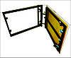Люки невидимки под плитку с усиленной петлей под отделку мрамором, гранитом и т. д.