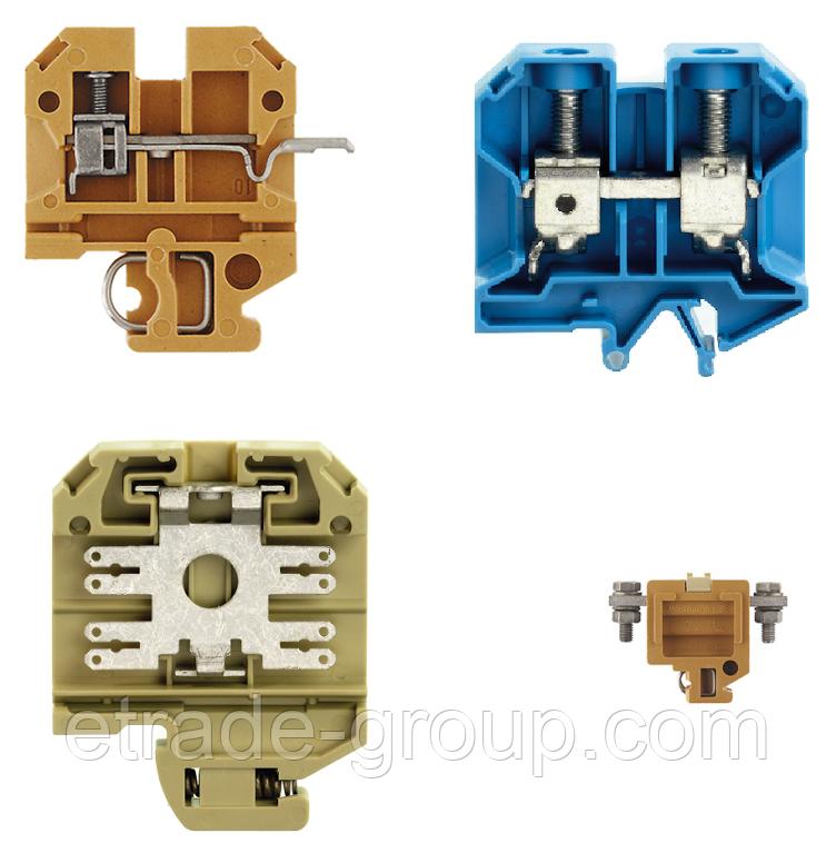 Винтовые клемы Weidmuller SAK Серии ts15 SAK 2.5 KRG/BL 279670000
