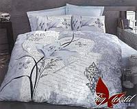 Комплект постельного белья из ранфорса евро R2075 голуб