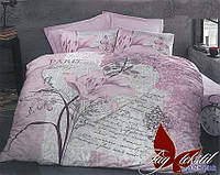 Комплект постельного белья из ранфорса евро R2075 роз