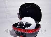 Кофр для мотоцикла (багажник) HF-997  черный мат , фото 3