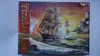 """Пазлы """"Боевой Корабль Battle Ships"""",1500ел,680*475мм,Danko Toys.Пазлы для детей и взрослых.Пазли для дітей та"""