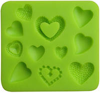 Молд Сердечки 8*9см(шт) форма силикон