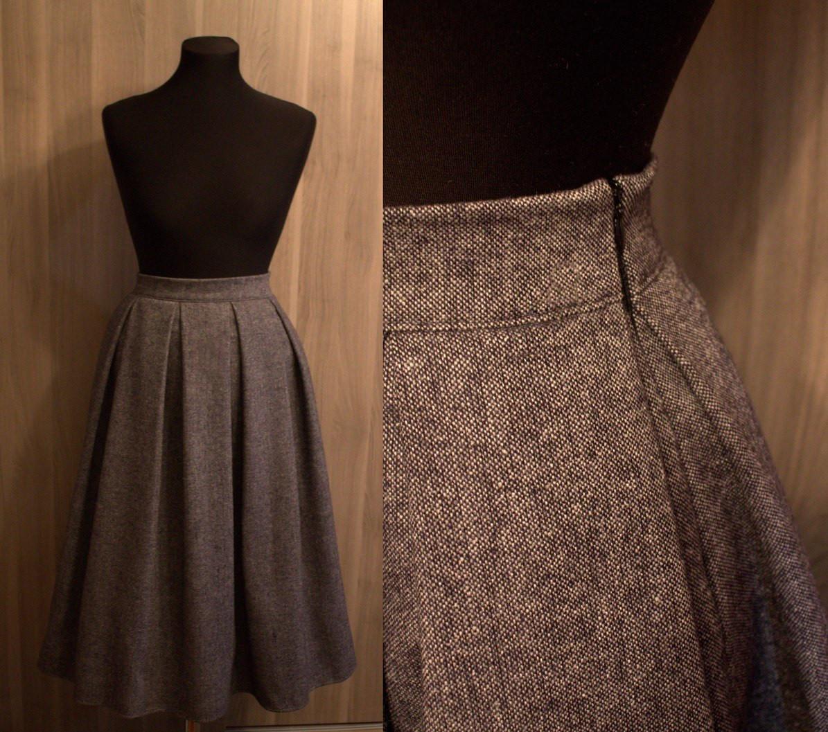 8ba9c3be7bb4 Твидовая юбка коричневая
