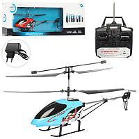 Вертолет QY66-K01 р/у, аккумулятор, гироском, 44 см, 3,5 канала, свет, цвета, в коробке