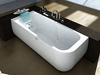 Гидромассажная ванна Jacuzzi Aquasoul Hydro Base с шумопоглощающей панелью без смесителя 9443-186A Sx левая