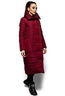 Модное Теплое зимнее пальто Альма с высоким воротником 42-48р