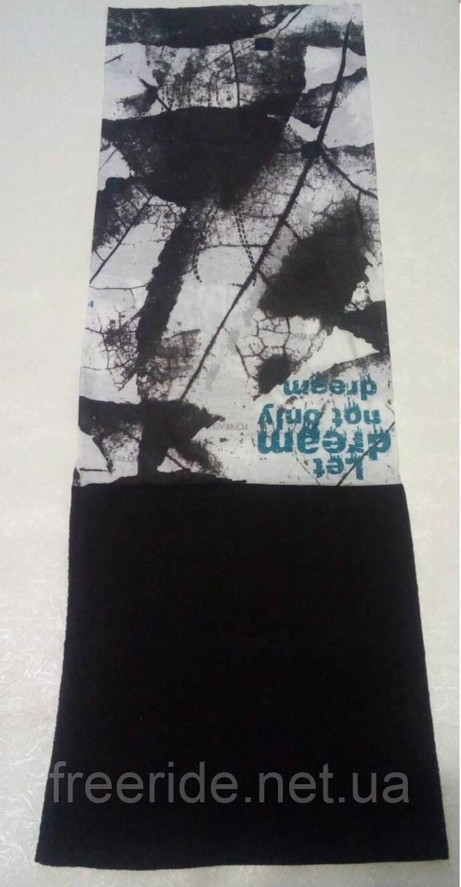 Зимний бафф с флисом, теплый шарф (#760)