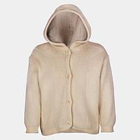Вязанная курточка с капюшоном шерсть Disana