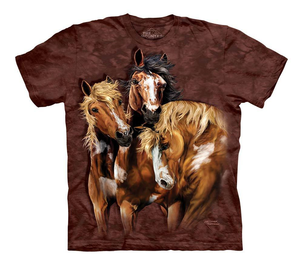 3D футболка для мальчика The Mountain р.XL 13-15 лет футболки детские с 3д рисунком (Лошади)