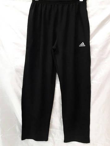 Костюм мужской спортивный Adidas черный с синей надписью, фото 2