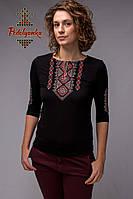 Женская вышиванка Традиционная красно-серая
