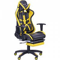 Геймерское кресло VR Racer BN-W0110A черный/желтый