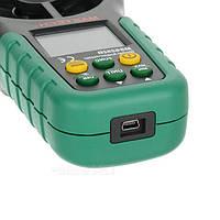 Анемометр Mastech MS6252B (0,20-40,00 м/с; 99990 м3/м) с USB-интерфейсом, гигрометром и термометром