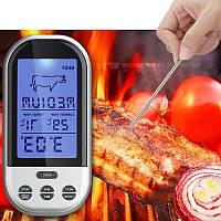 Беспроводной термометр (до 30 м) с щупом для приготовления пищи YB414-SZ (0 до +250 °С) С ф-ей Будильник