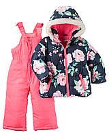 """Зимний комбинезон на флисовой подкладке Картерс для девочки """"Цветочек"""", фото 1"""