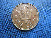 Монета 1 цент Барбадос 1973