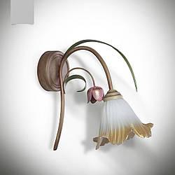 Бра с цветком тюльпана флористика одноламповое 471-5