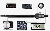 Штангенглубиномер с двумя крючками Shahe 0-300 мм/0,01 мм (5113-300B)
