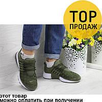 Женские кроссовки Nike Air Presto, темно-зеленые / кроссовки женские Найк Аир Престо, текстиль, удобные