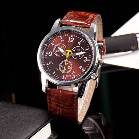 Стильные мужские часы Sloggi с коричневым циферблатом
