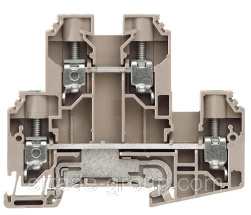 Модульные клеммы Weidmuller WDK 4N GN 1073320000 W серии
