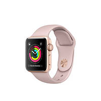 Часы Apple Watch Series 3 38mm Gold Aluminum Case with Pink Sand Sport Band (MQKW2)