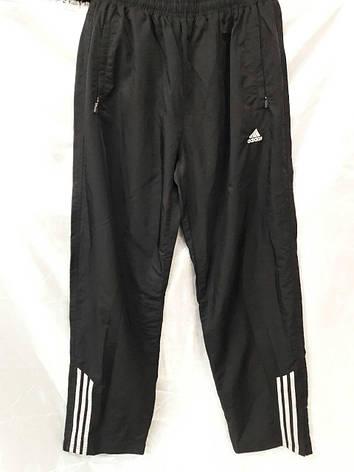 Костюм мужской спортивный Adidas черный с лампасами, фото 2