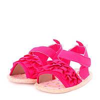Пинетки летние на липучках для девочки с антискользящей подошвой (обувь на первый шаг, раз. 12,5 см) ТМ Berni  Малиновый