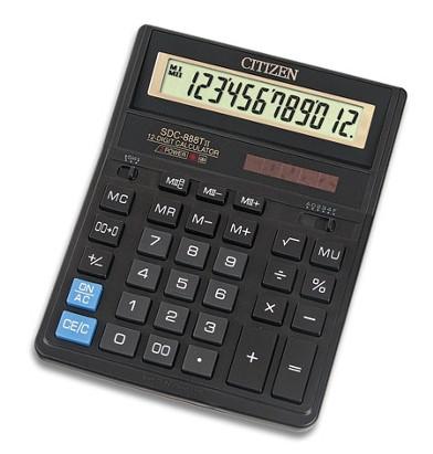 Популярный настольный калькулятор citizen 888tii, бухгалтерский, большой дисплей, клавиши из пластика
