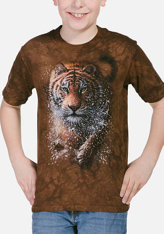 3D футболка для мальчика The Mountain р.XL 13-15 лет футболки детские с 3д принтом рисунком (Тигр), фото 2