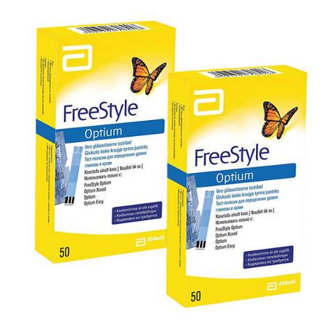 Тест полоски Freestyle Optium 50 штук, фото 2