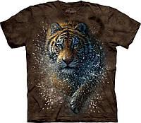 3D футболка для мальчика The Mountain р.XL 13-15 лет футболки детские с 3д принтом рисунком (Тигр)