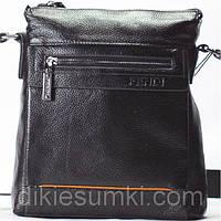 Мужская сумка в стиле Fendi черная