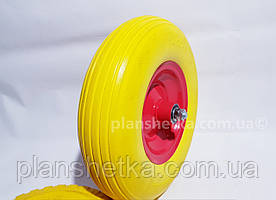 """Колесо для тачке 4.00-6 + ось 14 мм пенополиуретановое """"Tires-For"""""""