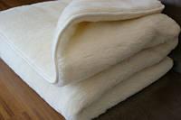 """Одеяло из овчины  """"КЛАССИК"""", двухслойное однотонное, цвет крем-молоко,  окантовка трикотажной бейкой, фото 1"""