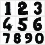 Фольгированные шары цифры черные 70 см