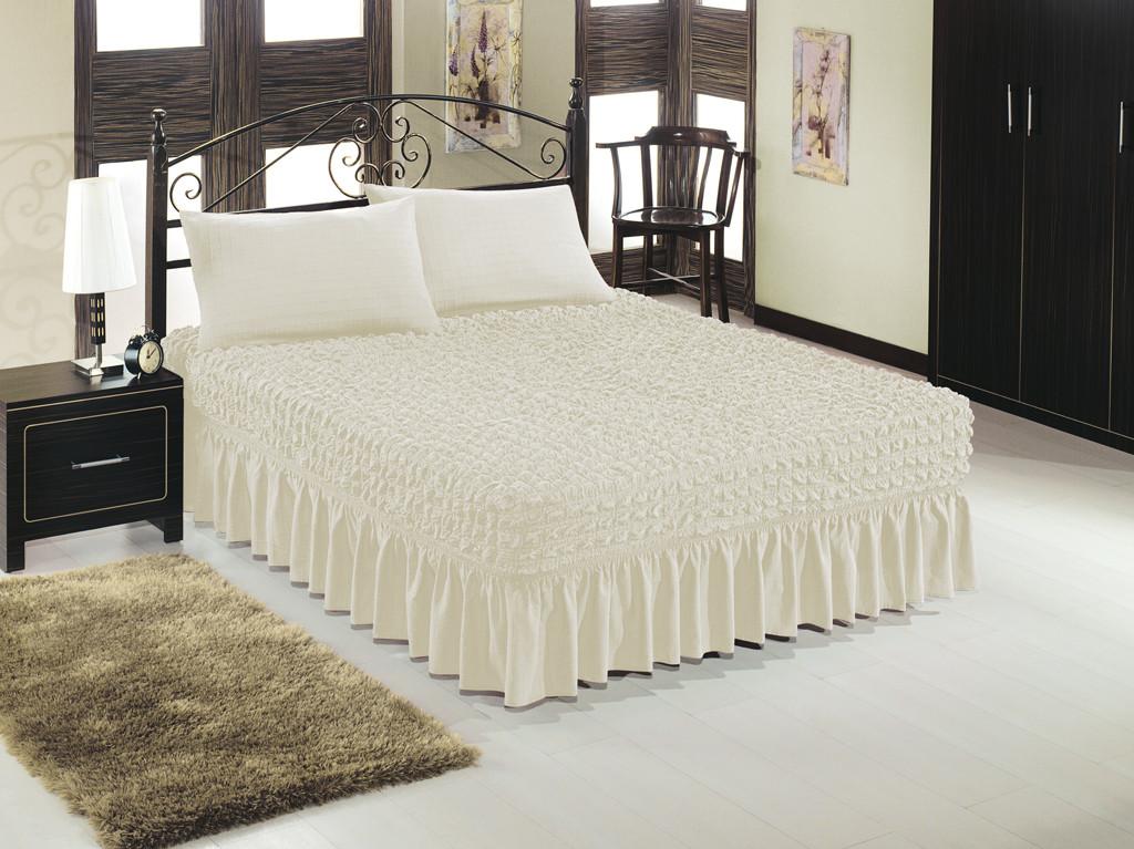 Чехол на кровать + 2 наволочки ESV Home (кремовый) Турция