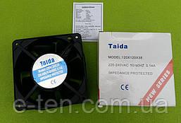 Вентилятор осьовий універсальний Taida 120мм*120мм*38мм / 220-240V / 0,14 А / 23W (КВАДРАТНИЙ) Китай-Туреччина