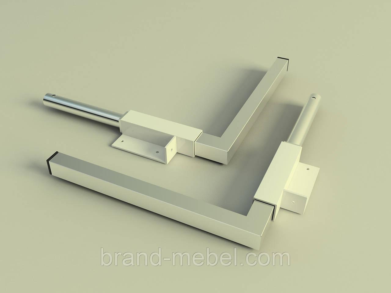 Ніжки ліжка трансформера 255мм нержавіюча сталь/Ножки для кровати-шкафа нержавейка 265мм