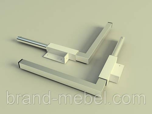 Ножки для кровати-шкафа никель, выс. 260мм