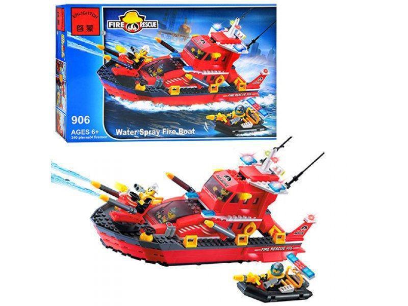 """Конструктор Brick 906 """"Пожарный катер"""" 340 деталей"""