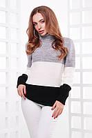 Вязаный женский свитер под горло