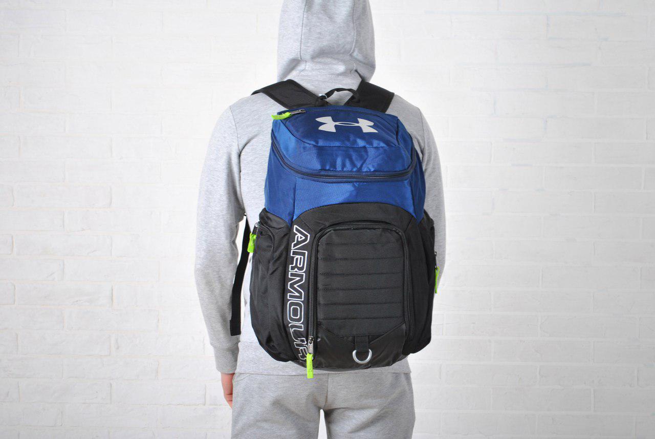 Рюкзак реплика Under Armour черно- синий - streetwear в Киеве 05662e8504775