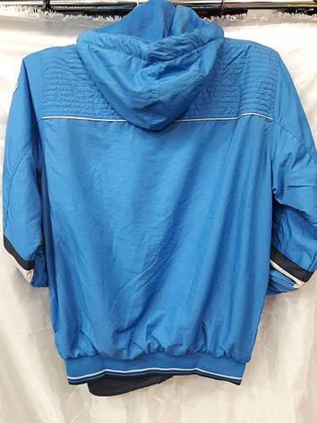Костюм мужской спортивный плащевый на флисе  голубой, фото 2