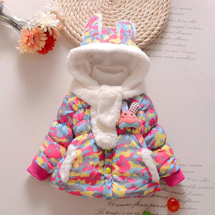 Детские куртки. Демисезонная куртка для девочки с ушками